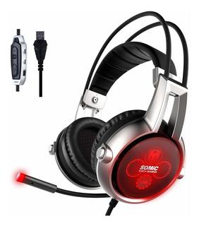 Somic E95x Usb Auriculares 5,2sonido Surround Físico Re