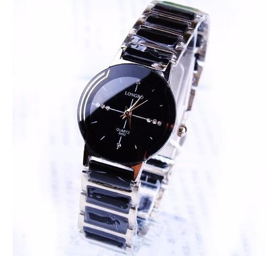 Relógio Feminino De Luxo Longbo Em Aço Inoxidável