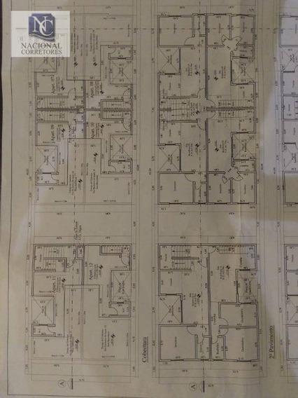 Apartamento Com 1 Dormitório À Venda, 37 M² Por R$ 260.000,00 - Bangu - Santo André/sp - Ap9424