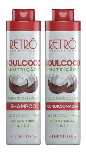 Retrô Cosméticos Kit Duo Nutrição Profunda Soul Coco 2x1lt