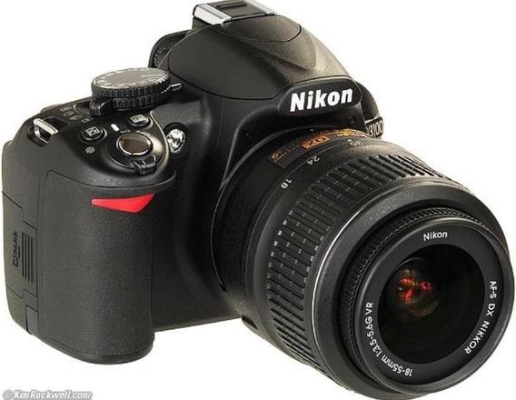Camera Fotografica Nikon D3100 Com Lente Af-s Dx 18-55/3.5