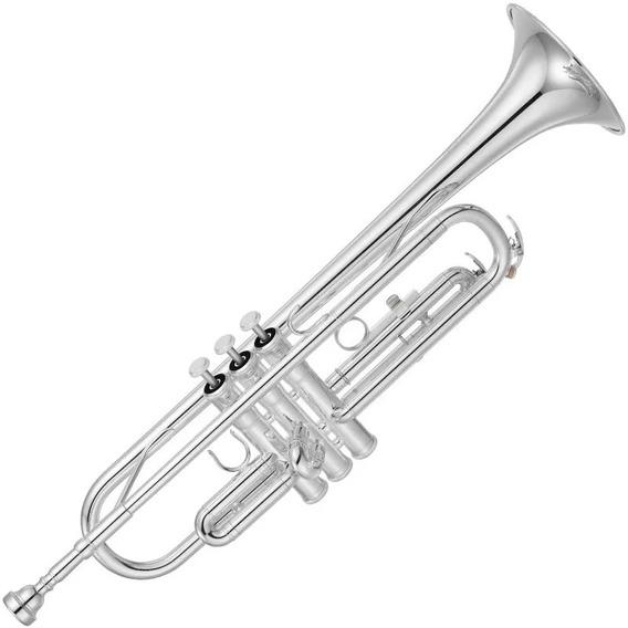 Trompete Yamaha Ytr 2330s Em Bb Prateado Com Case