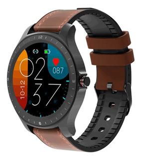 Relógio Smartwatch Blitzwolf Bw-hl2 Bluetooth Brown Leather