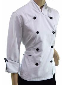 Roupa Chef De Cozinha Feminina Dólmã Rosa Pink Com Branco