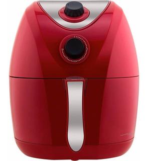Fritadeira Vermelha Sem Óleo Elétrica Philco 3,2l Inox