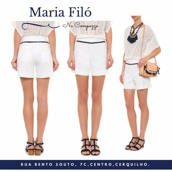 Short Feminino Detalhe Festonê- Maria Filó