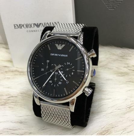Relógio Armani Ar1808 - Caixa, Manual E Certificado