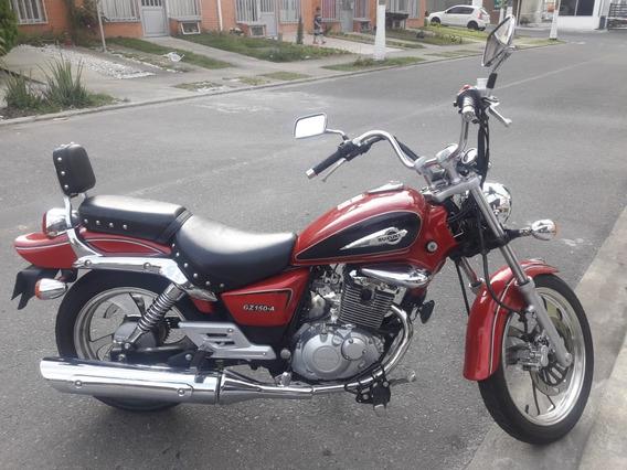 Suzuki Gz150 Chopper, Color Rojo