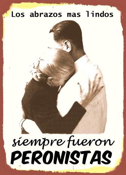 Cuadros De Chapa X 2- Abrazo Peron Y Evita / Cris Y Nestor