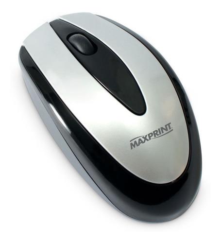 Mouse Usb Óptico 800dpi Preto E Prata 60816-4 - Maxprint