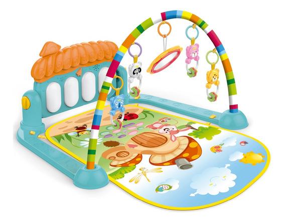 Tapete De Atividades Interativo Bebê Piano Musical Mobile