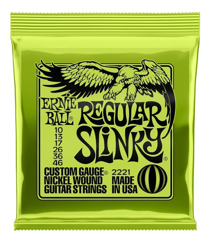 Encordoamento De Guitarra Ernie Ball Regular Slink 010 Usa