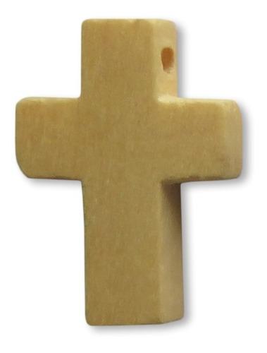 10 Cruces Madera Colgantes 2 Cm X 1,5 Cm Varios Colores