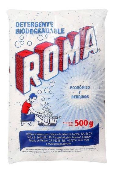 Detergente En Polvo Roma Multiusos Biodegradable 500 Gr