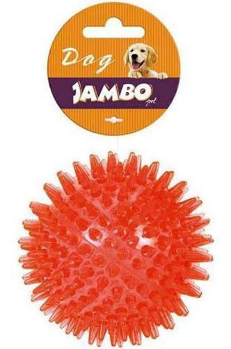Brinquedo Jambo Bola Espinho Com Som Vermelha