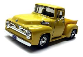 Miniatura Pickup Ford F-100 55/56 Escala 1/24
