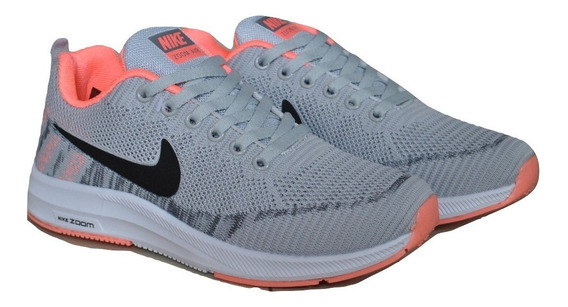 Kp3 Zapatos Damas Nike Air Zoom Gris Negro Salmon