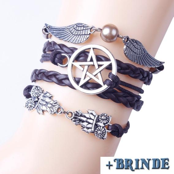 Colar E Pulseira Pentagrama Supernatural