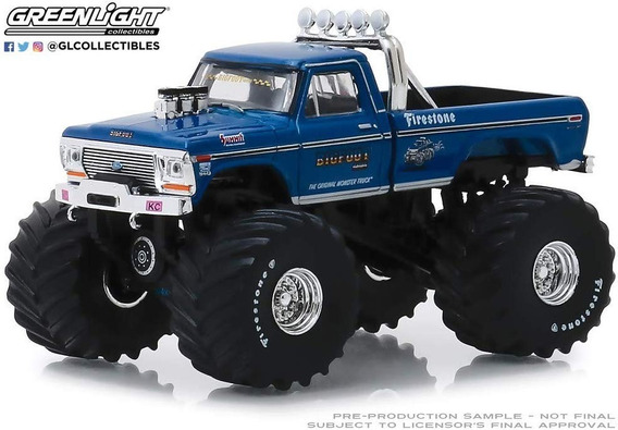 Greenlight 1974 Ford F-250 Bigfoot #1 Mide 9 Cm. E/1:64