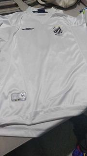 Camisa De Jogo Do Santos Oficial 2001 Pach Da Fifa Apagado