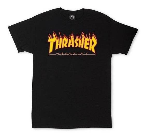 Remera Thrasher Fuego