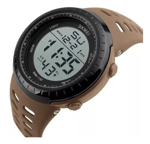 Relógio Masculino Digital Militar Airsoft Skmei 1167 Caqui