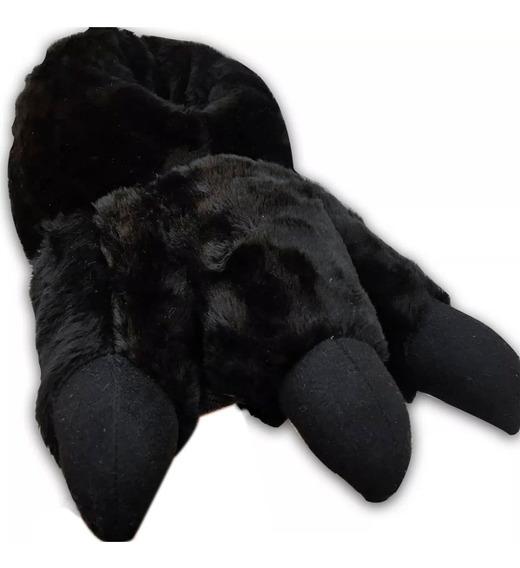 Pantufla Garra De Oso Negro Calientita Envio Gratis