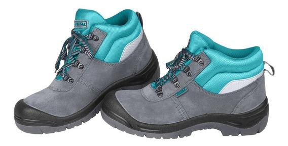 Zapato De Trabajo Gris Total, Punta De Acero, Varios Talles