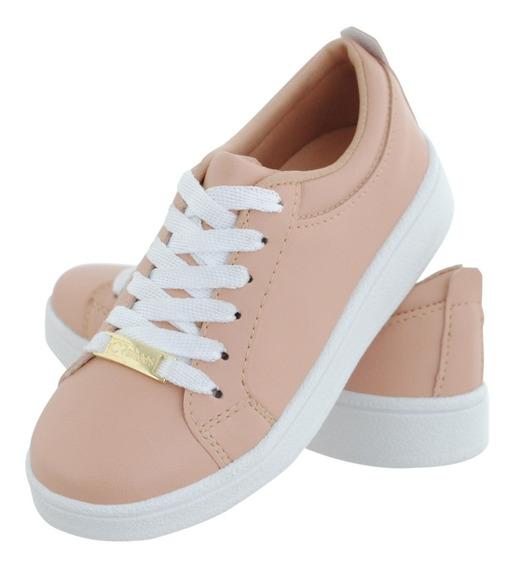 Tenis Branco Femenino Cr Shoes Estilo Vizzano Promoçao 2019