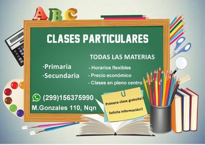 Clases De Matemática Y Todas Las Materias Del Secundario