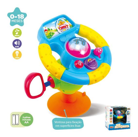 Brinquedo Didático Bebê Volante Musical Luz Educativo +18m