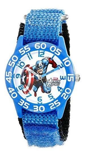 Marvel Captain America - Reloj De Pulsera Para Niños, Plásti