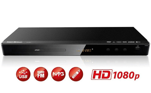 Reproductor Dvd Ken Brown D1201 Usb Mp3 Rca Hdmi Fm Hd 1080