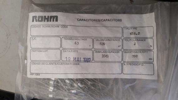 Capacitor Estiroflex Styroflex 620pf 63v - Pacote 200 - Tsm
