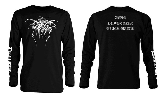 Playera Darkthrone Norwegian Black Metal Manga Larga Bathory