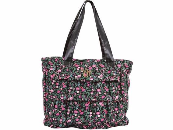 Bolsa Capricho Floral Preto Liberty - Dermiwil