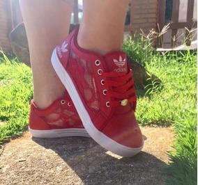 56d1fef3325 Tenis Adidas Com Renda Vermelho - Tênis no Mercado Livre Brasil