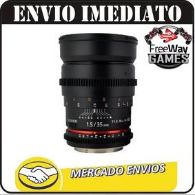 Lente Rokinon Cine 35mm T1.5 As Umc Para Canon + Nfe
