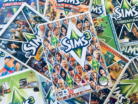 The Sims 3 + 15 Expansões + The Sims Medieval Originais