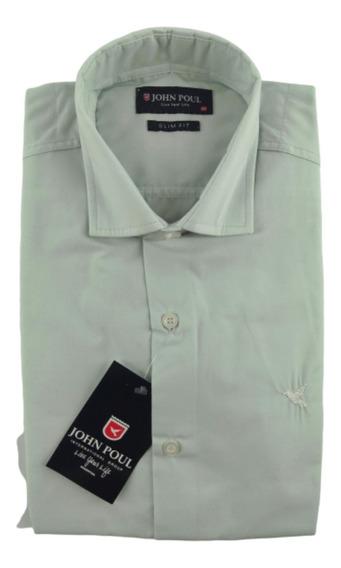 Camisa Hombre Slim Fit * John Poul* Entallada Autentica*****