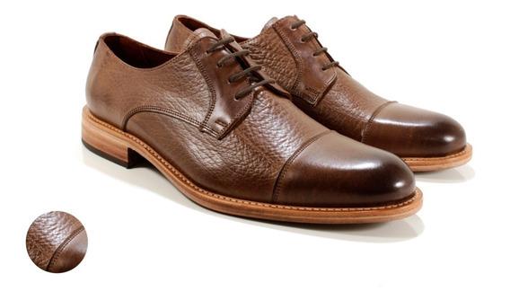 Zapatos Hombre En Cuero Marrón Diseño Benedetto By Ghilardi