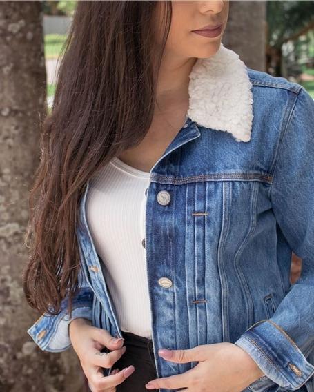 Jaqueta Jeans Feminina Com Pelucia Removivel