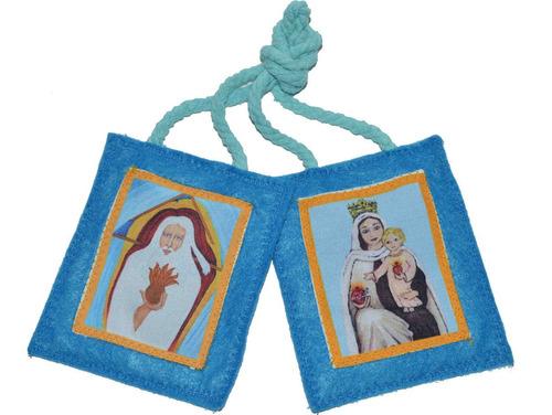 Imagen 1 de 4 de Escapulario Consagración Dios Padre Corazón De Jesus Y María