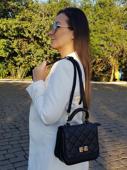 Bolsa Feminina De Mão Com Alça Longa Removível Cor Preta