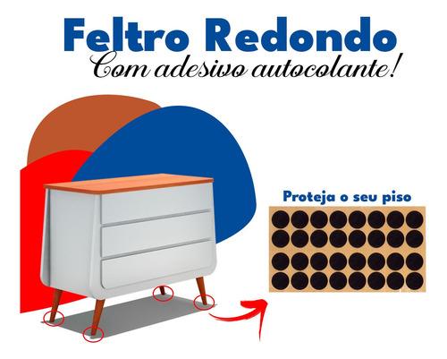 Imagem 1 de 7 de Adeviso Feltro Protetor Moveis 32 Unidades Casa Redondo