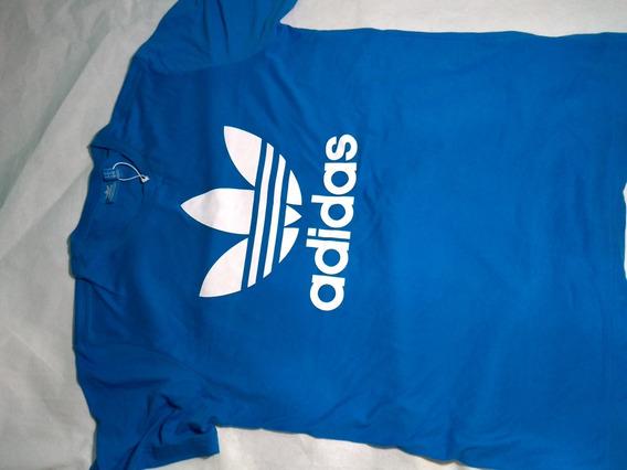 Camisa adidas Azul Masculina Original