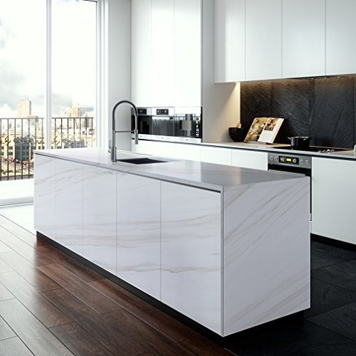 Marble Contact Paper for Kitchen Cabinet, Shelf