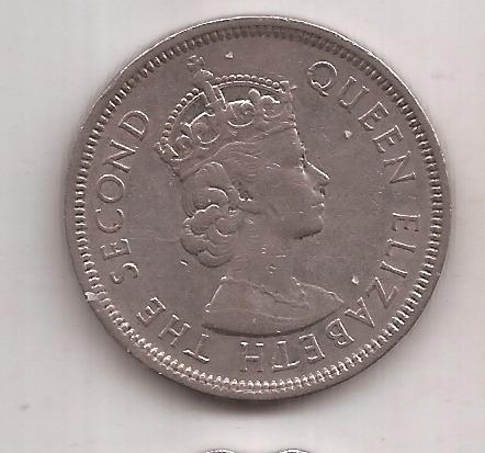 Hong Kong Moneda De 1 Dollar Año 1960 Excelente !!!