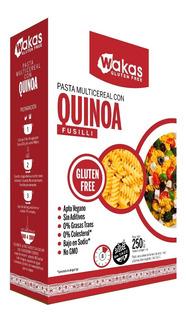 Pastas Fusilli Multicereal Gluten Free Wakas 12x250 G.