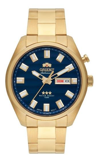 Relógio Orient Masculino Automático 469gp076 D1kx Dourado Az